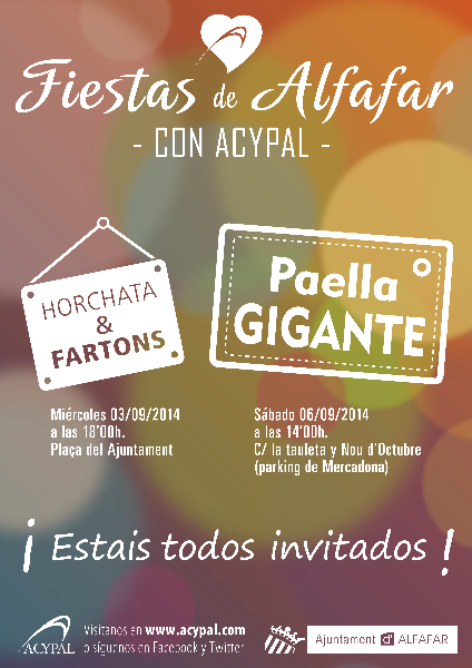Cartel Fiestas de Alfafar 2014