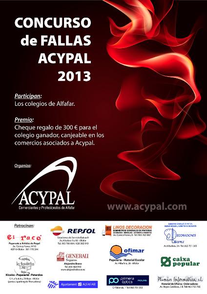 Cartel Concurso Fallas 2013